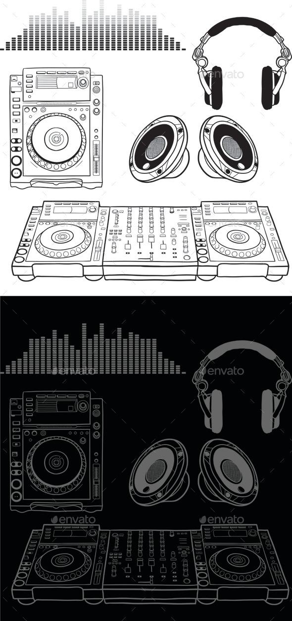 GraphicRiver Dj Music Elements 9742341