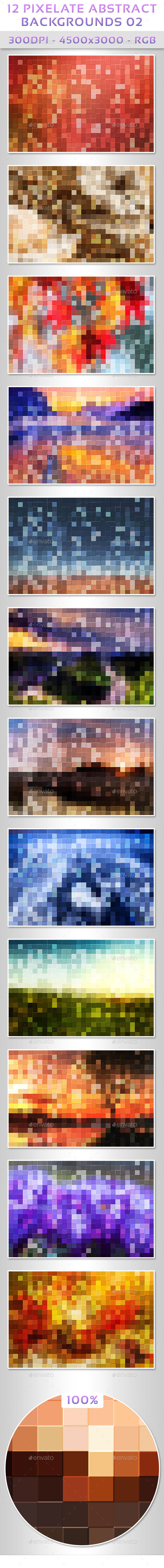 GraphicRiver 12 Pixelate Abstract Backgrounds 02 9742399