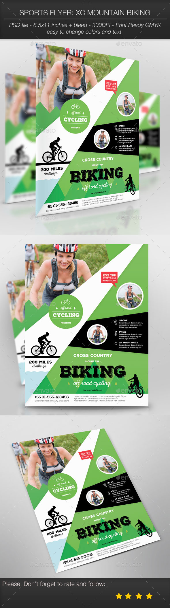 GraphicRiver Sports Flyer XC Mountain Biking 9742428