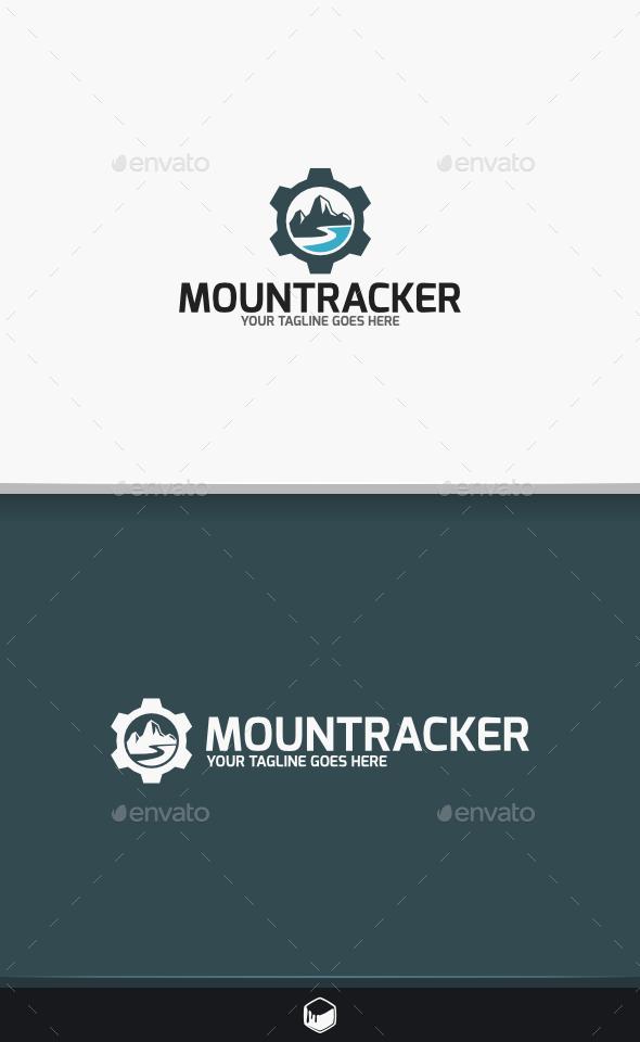 GraphicRiver Mount Tracker Logo 9742429