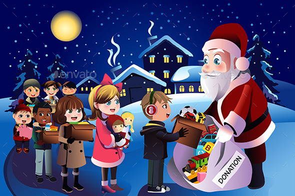 GraphicRiver Kids Donation During Christmas 9742440
