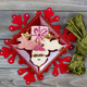 Christmas Cookies in Plate with Cloth Napkin - PhotoDune Item for Sale