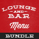Lounge Bar Drink Menu Bundle  - GraphicRiver Item for Sale