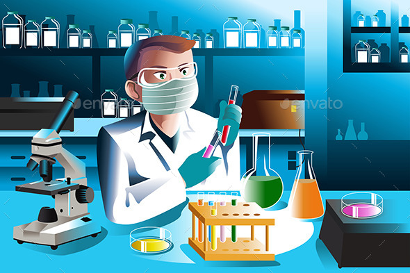 GraphicRiver Scientist Working in Laboratory 9742604