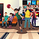 Young People Bowling - GraphicRiver Item for Sale