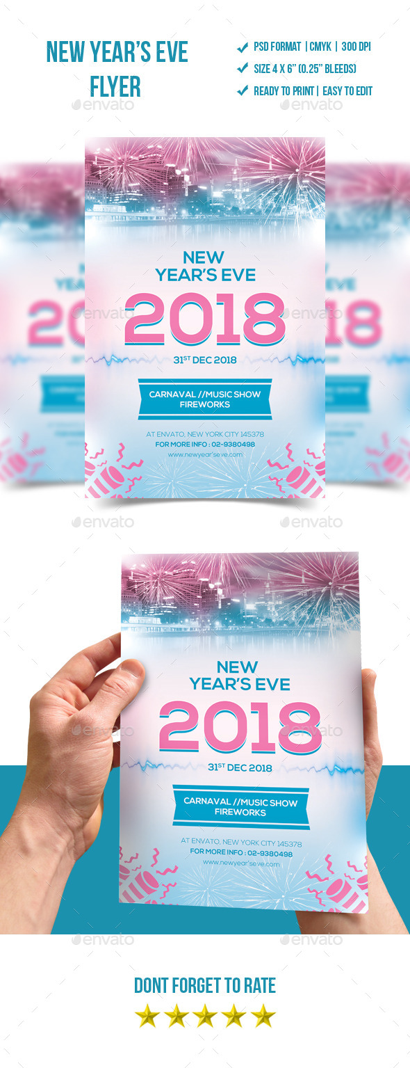 GraphicRiver New Year s Eve Flyer Template 9742616