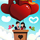 Couple Riding a Hot Air Balloon - GraphicRiver Item for Sale