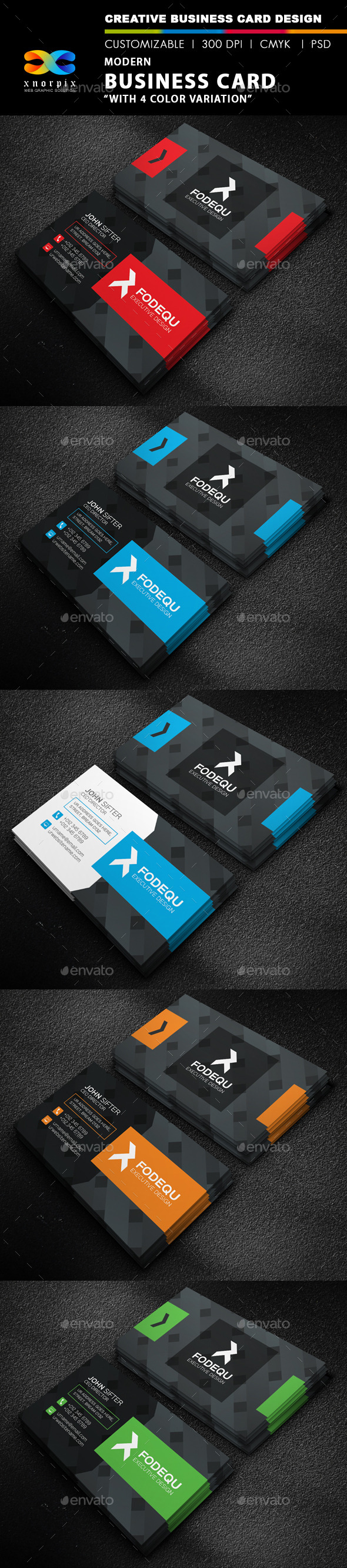 GraphicRiver Modern Business Card 9742734