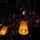 Floating lanterns during Yi Peng Festival in Chiang Mai, Thailan - PhotoDune Item for Sale