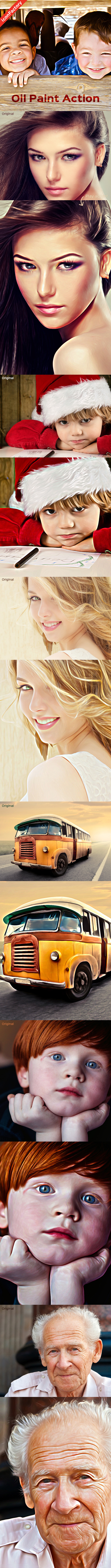 GraphicRiver Oil Paint Action 9742848
