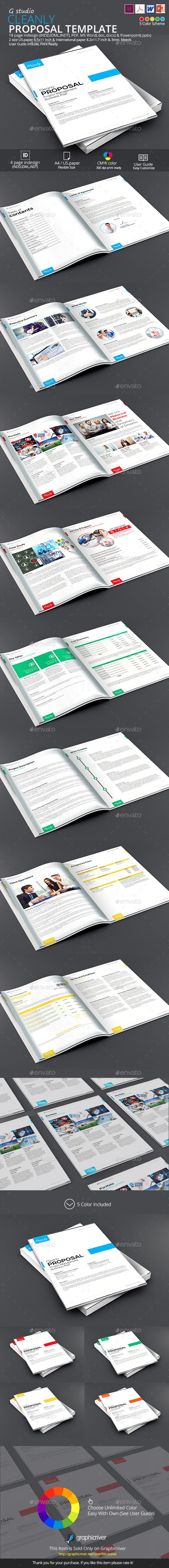GraphicRiver Cleanly Proposal Template 9743757