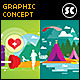 Flat Concept for Camping, Sports & Fitness - GraphicRiver Item for Sale