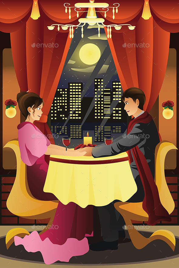 GraphicRiver Couple Having Dinner 9743960