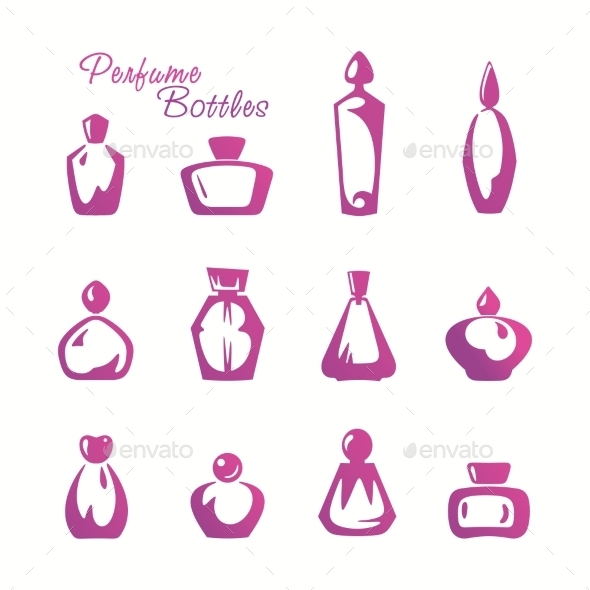 GraphicRiver Bottles of Perfume 9744034