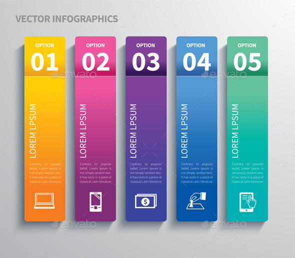 GraphicRiver Paper Tab Infographic 9744035