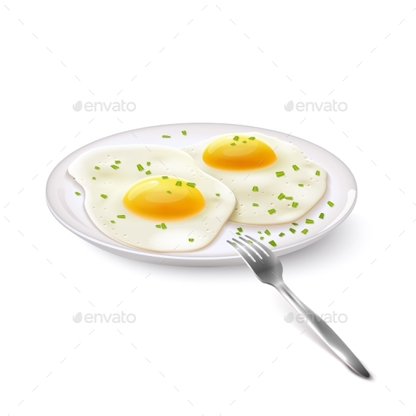 GraphicRiver Fried Eggs Realistic 9744462