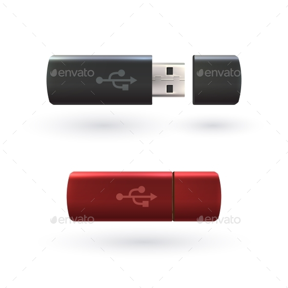 GraphicRiver USB Flash Drive 9744464