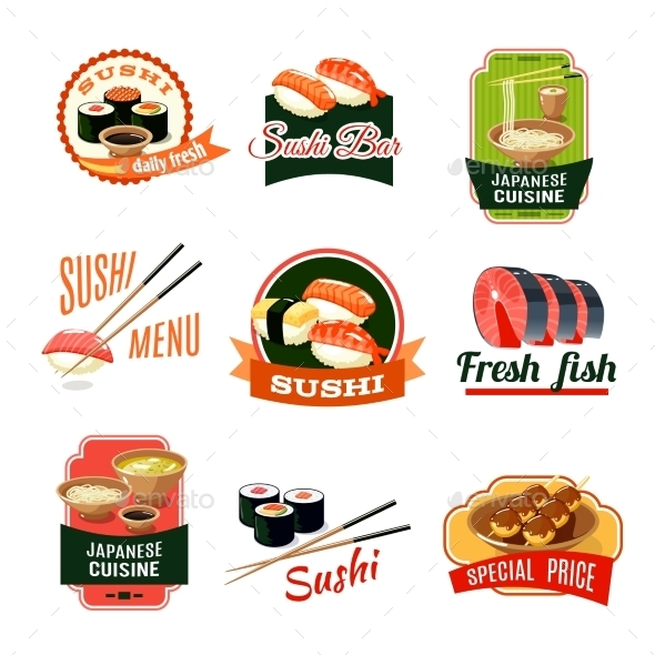GraphicRiver Asian Food Labels 9744477