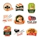 Asian Food Labels - GraphicRiver Item for Sale
