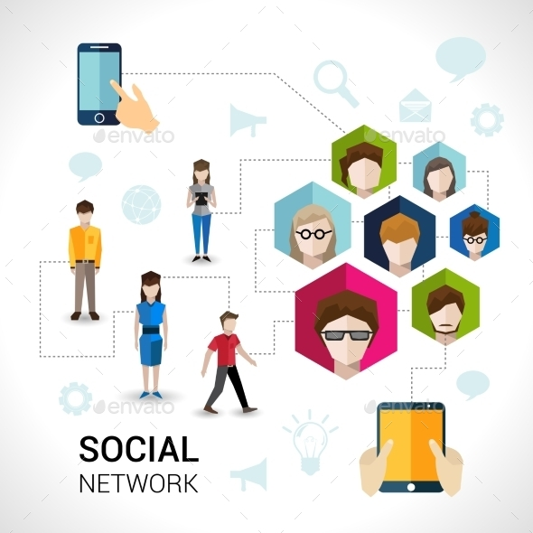GraphicRiver Social Network Concept 9744483