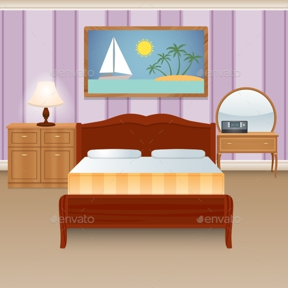 GraphicRiver Bed Room Interior 9744495