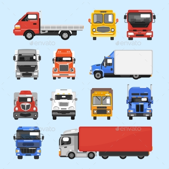 GraphicRiver Truck Icons Set 9744512