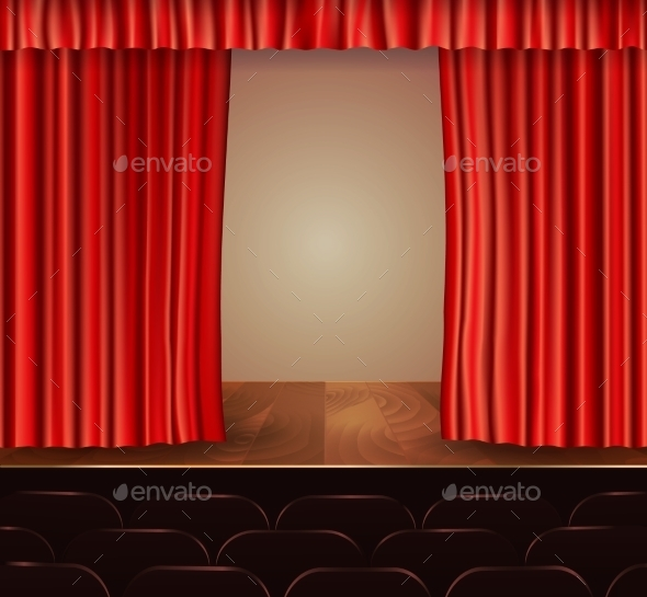 GraphicRiver Theater Curtains Background 9744523