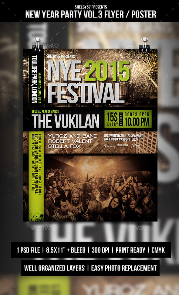 GraphicRiver New Year Party Flyer Poster Vol.3 9745542
