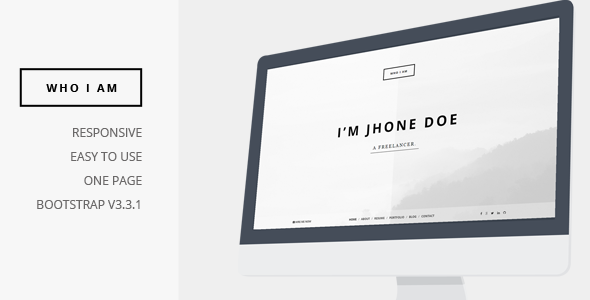 ThemeForest Who I am Personal Resume and Portfolio 9745869