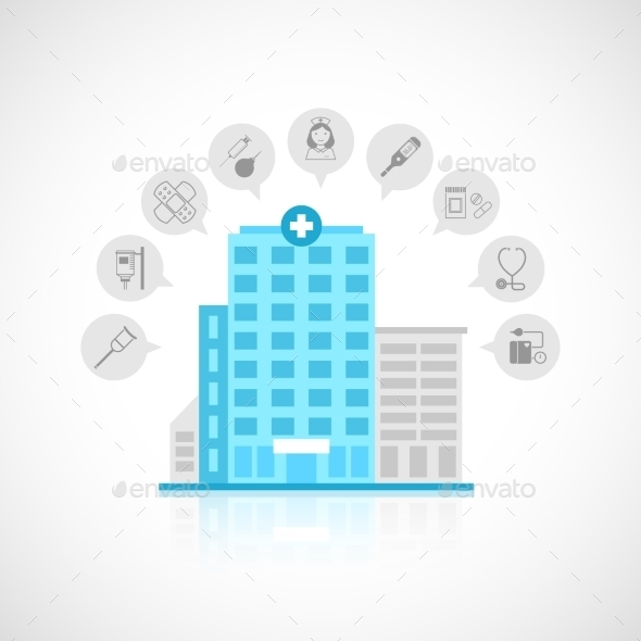 GraphicRiver Medical Building Flat 9745895