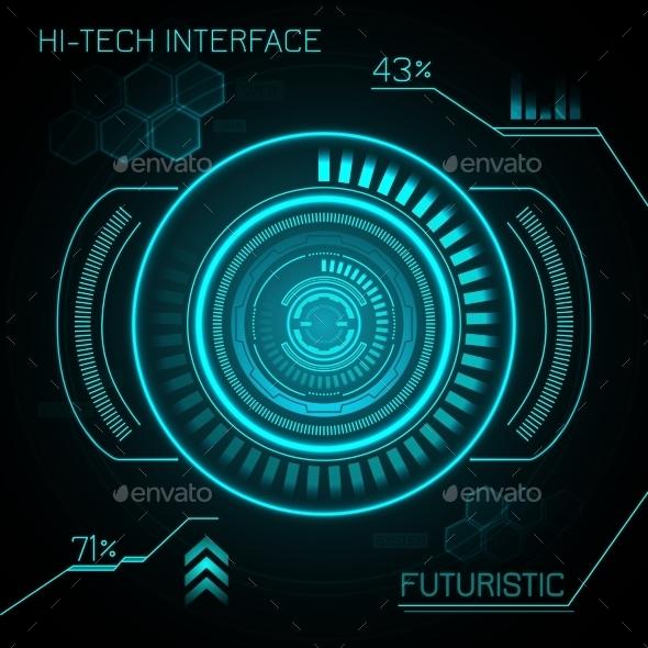 GraphicRiver Hud Futuristic Background 9746104