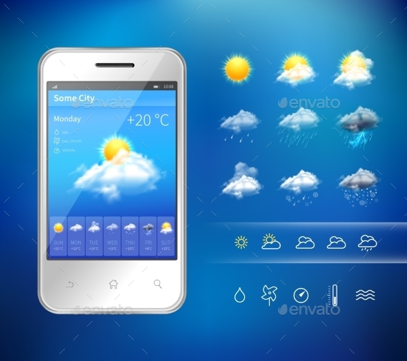 GraphicRiver Mobile Weather Application 9746202