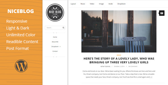 ThemeForest NiceBlog Clean and Awesome WP Blog Theme 9253368