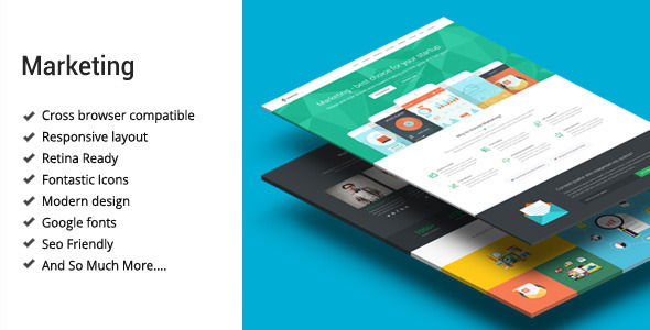 ThemeForest Marketing Startup Landing Page Template 9746331