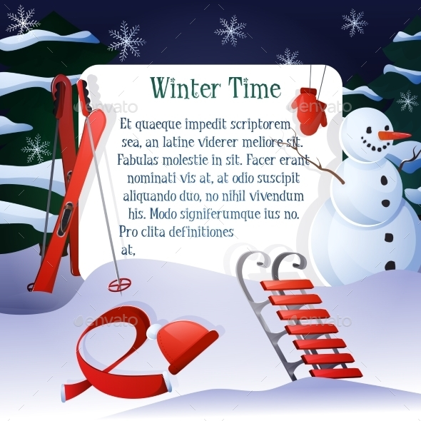 GraphicRiver Winter Time Background 9746335