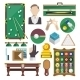 Billiards Icons Flat - GraphicRiver Item for Sale