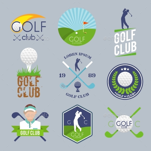 GraphicRiver Golf Label Set 9746573