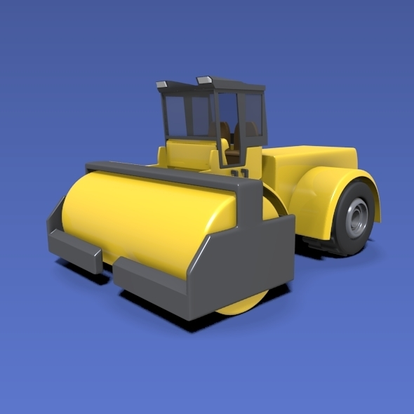 3DOcean Road roller construction vehicle 9746761