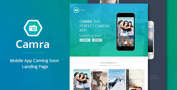 ThemeForest Camra Mobile App Coming Soon Landing Page 9746752