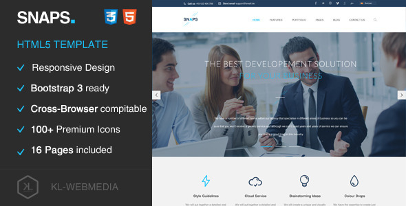 Snaps - Creative HTML5 Template