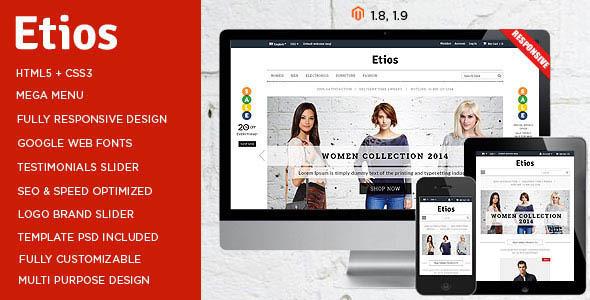 Etios - ULTIMATE Responsive Magento Theme - Shopping Magento