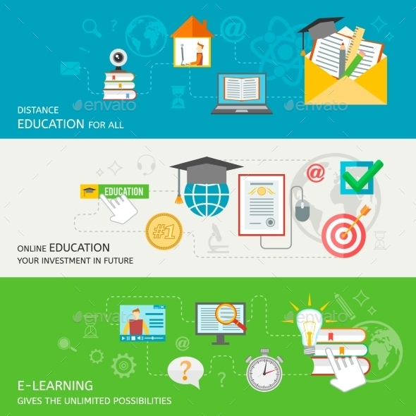 GraphicRiver Online Education Banner 9747124