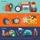 Tire Banner Set - GraphicRiver Item for Sale
