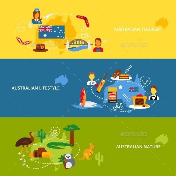 GraphicRiver Australia Flat Banner Set 9747166