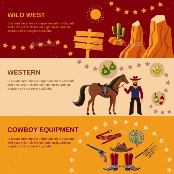 GraphicRiver Cowboy Banners 9747179