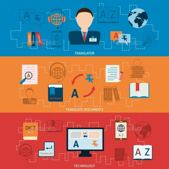 GraphicRiver Translation and Dictionary Banners 9747180