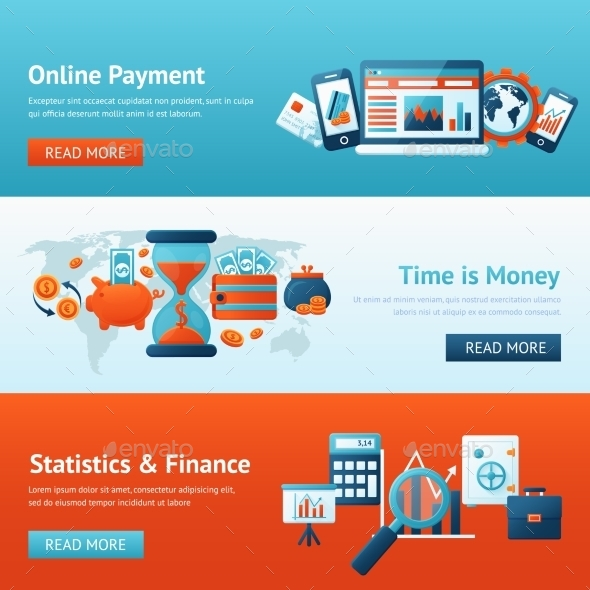 GraphicRiver Bank Banner Set 9747189