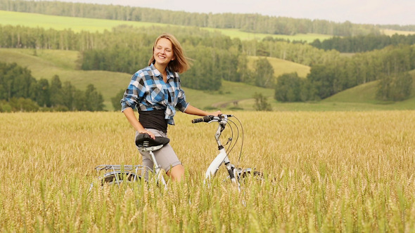 Girl With Bicycle 3