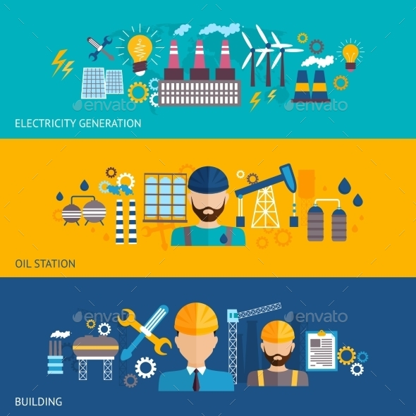 GraphicRiver Industrial Banner Set 9747194