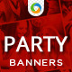 Christmas  & New Year Party Banners - GraphicRiver Item for Sale